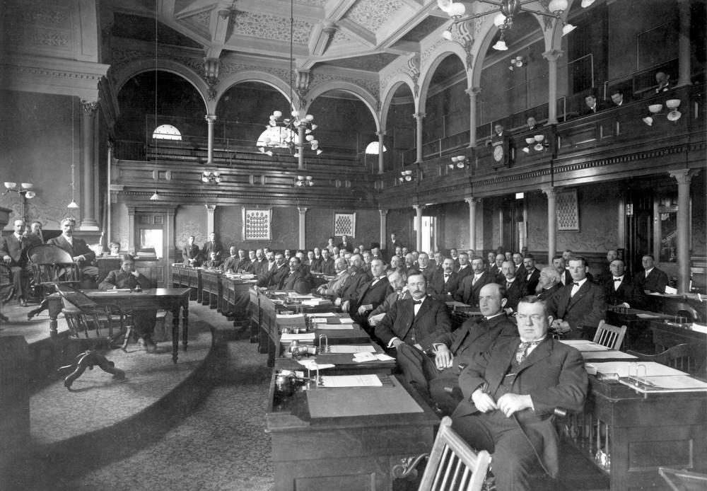 State Legislators in House Chambers