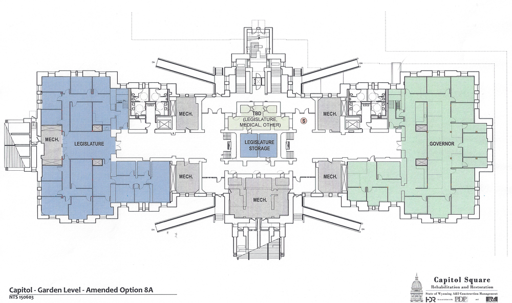 Preliminary design plans for the garden level of the Capitol as of June 2, 2015