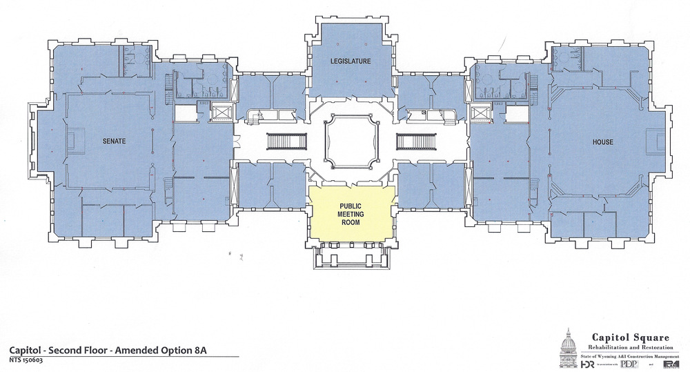 Preliminary design plans for the second floor of the Capitol as of June 2, 2015