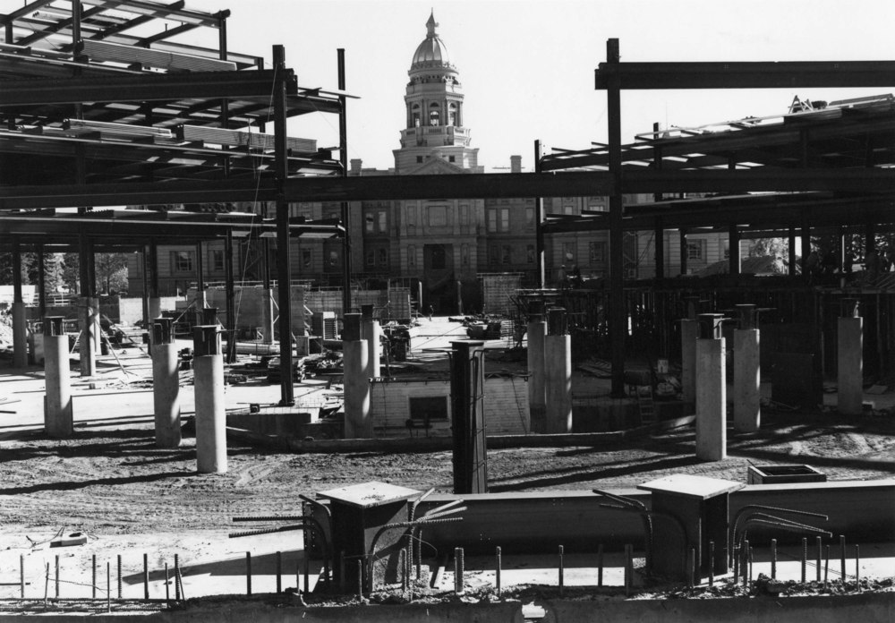 Capitol through steel beams, 10-22-1981