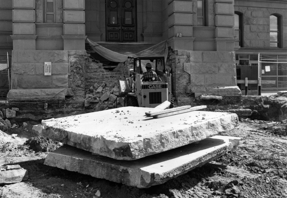 Removing north steps from Capitol, 4-23-1981