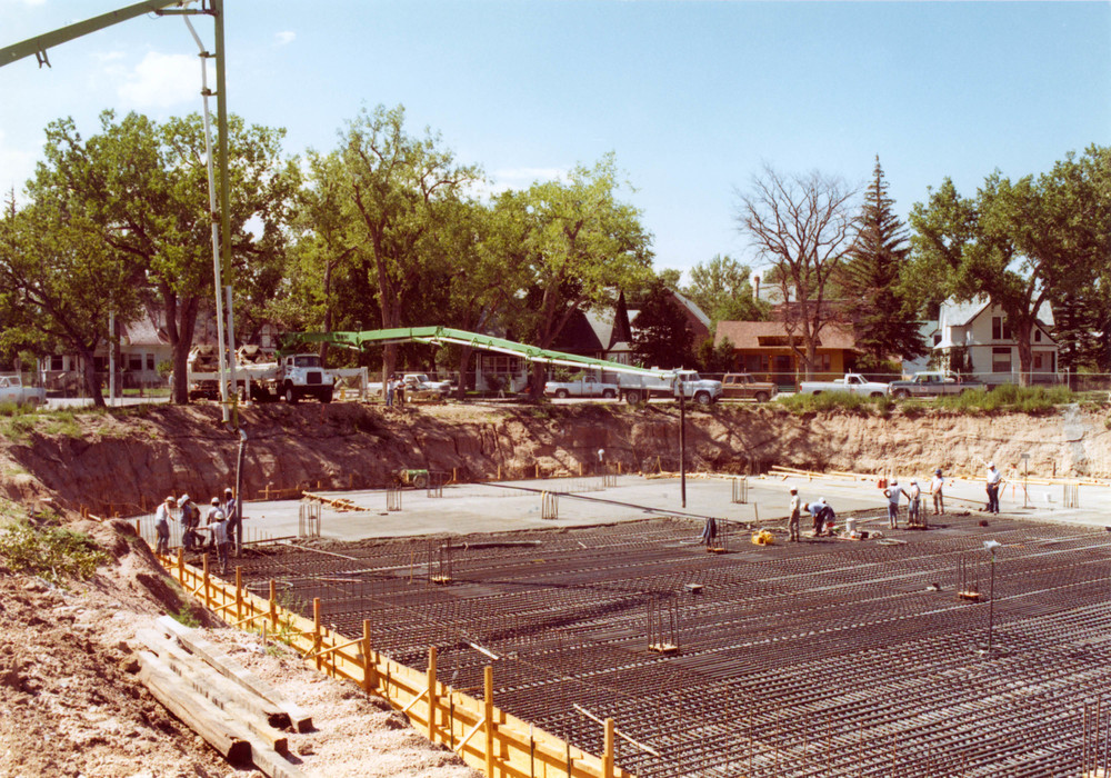 Pouring concrete, 5-18-1982