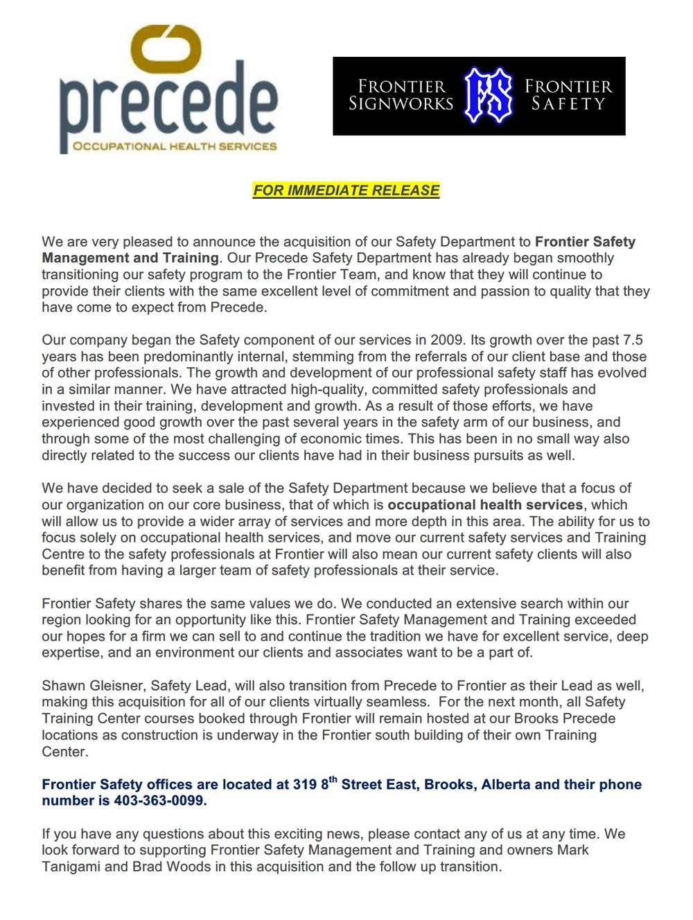 Precede Frontier Announcement.jpeg