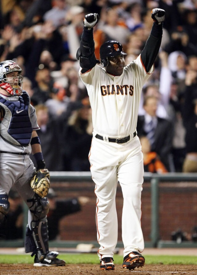 Barry Bonds after setting the career home run mark