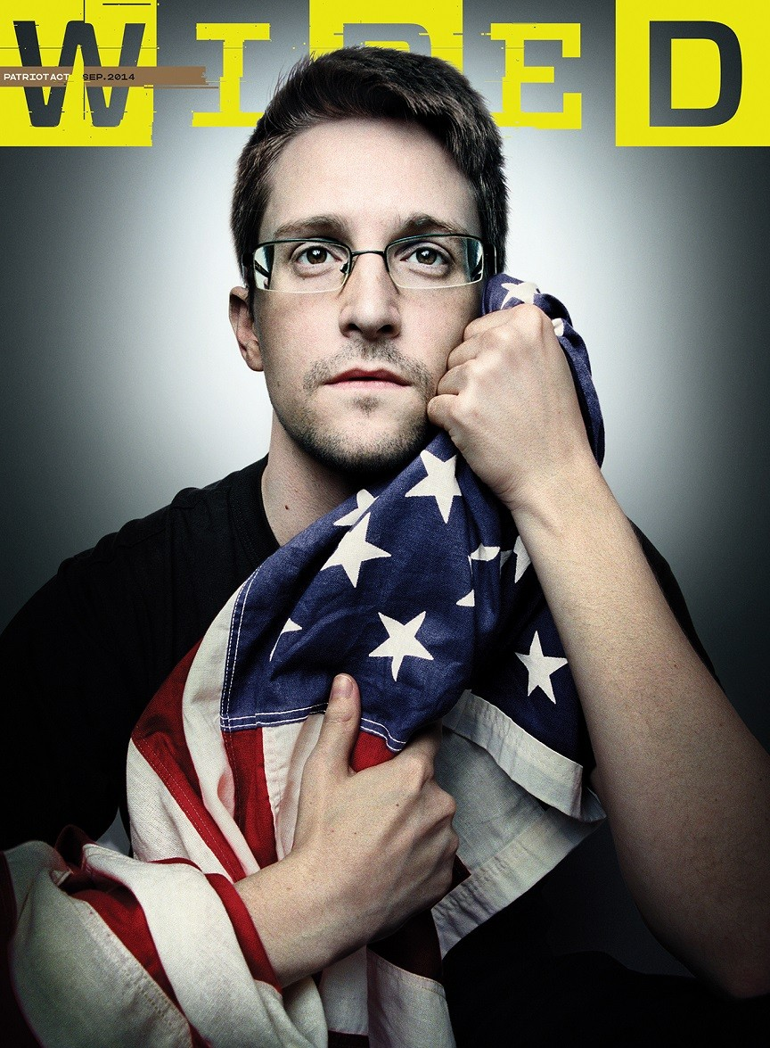 The infamous or famous Edward Snowden.  Read his story in Wired Magazine  here.