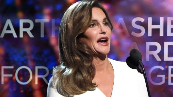 Caitlyn Jenner speaking at the ESPY's after winning the Arthur Ashe award