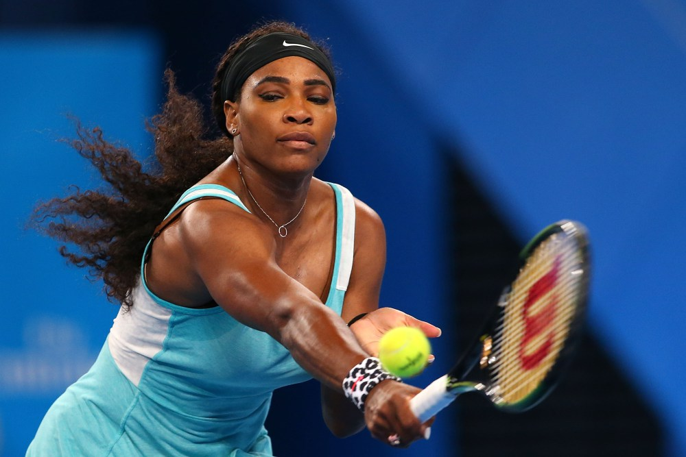 Tennis Champion Serena Williams.  Being a woman in peak physical condition doesn't mean you look like a man.