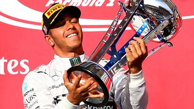 Lewis Hamilton claiming the US Grand prix trophy and overall Drivers Championship in Austin, Texas Last week.