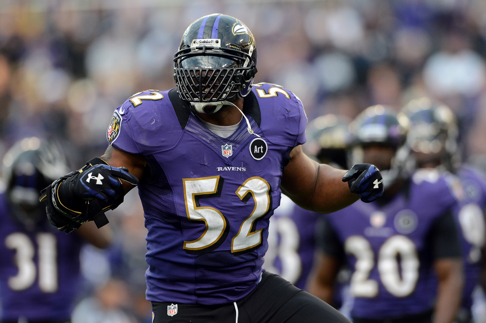 Ray Lewis, two time super bowl champion.  He was drafted as an undersized linebacker only to become a first ballot hall of famer when his time comes.  And he goes down as one of the greatest leaders to ever grace a football field.