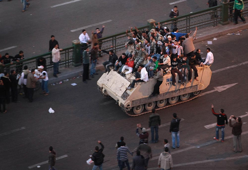 A photo of the Egyptian Revolution, images like this come all to often for some of us.