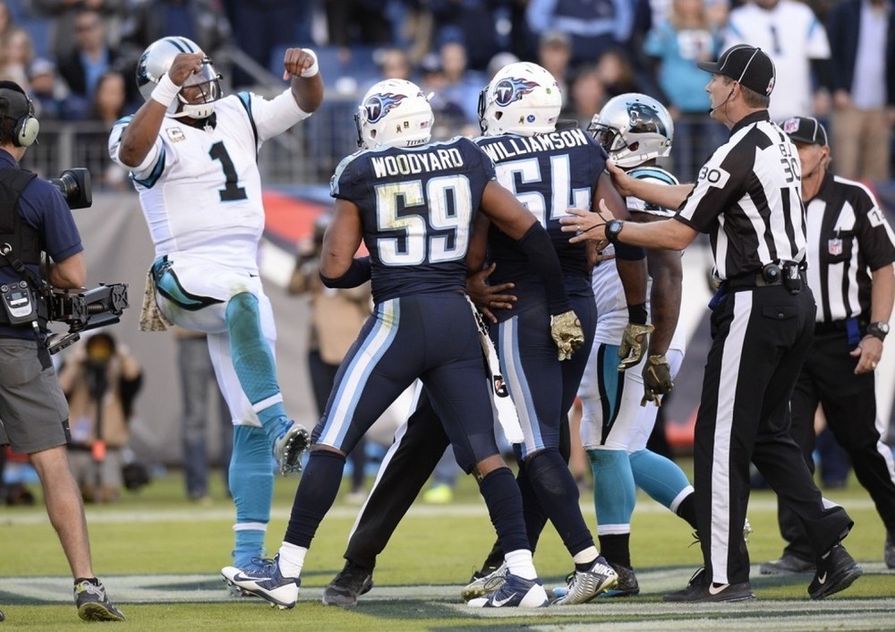 Cam dabbing it up after scoring. The dance the drew the ire of one mom.