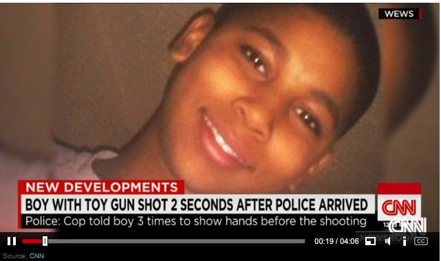 Tamir Rice , shot for having a toy gun...
