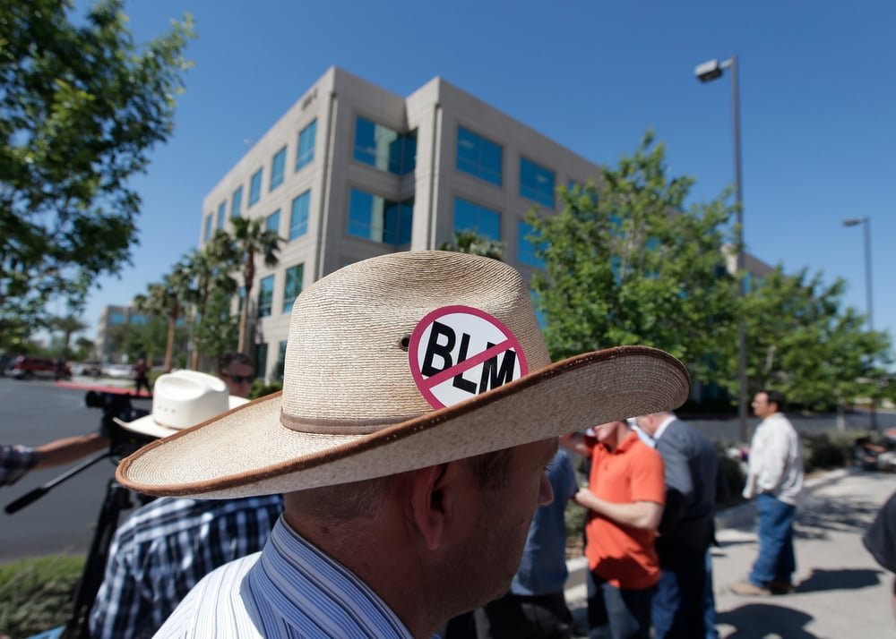I've learned this hat means No Bureau of Land Management. But I've seen similar which stand against Black lives Matter. And to many in America they don't.