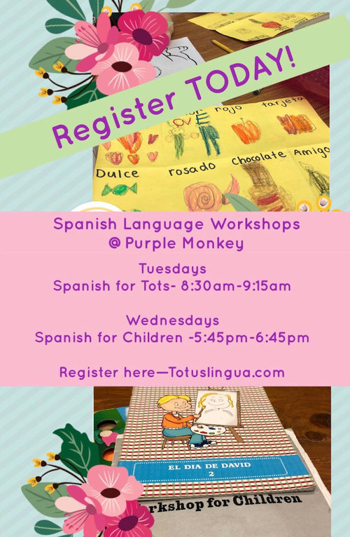 Spanish for kids and toddlers with totus lingua purple monkey playroom spanishg m4hsunfo