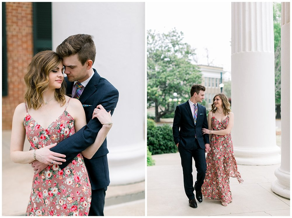 Oxford Mississippi Ole Miss Engagement Session by Mary Kate Steele Photography