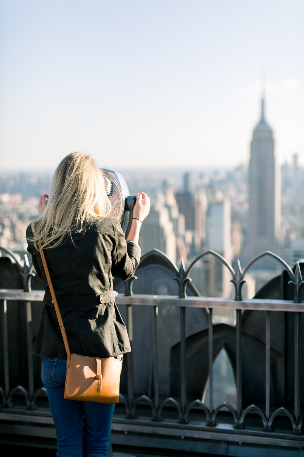 Top of the Rock Observatory Deck New York City by Mary Kate Steele Photography