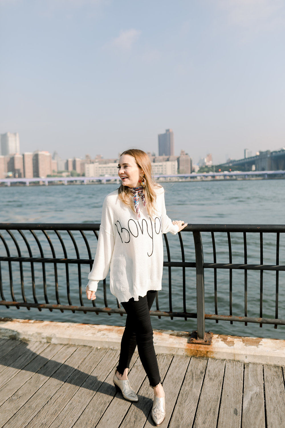 Megan Bonner in DUMBO Brooklyn by Mary Kate Steele Photography