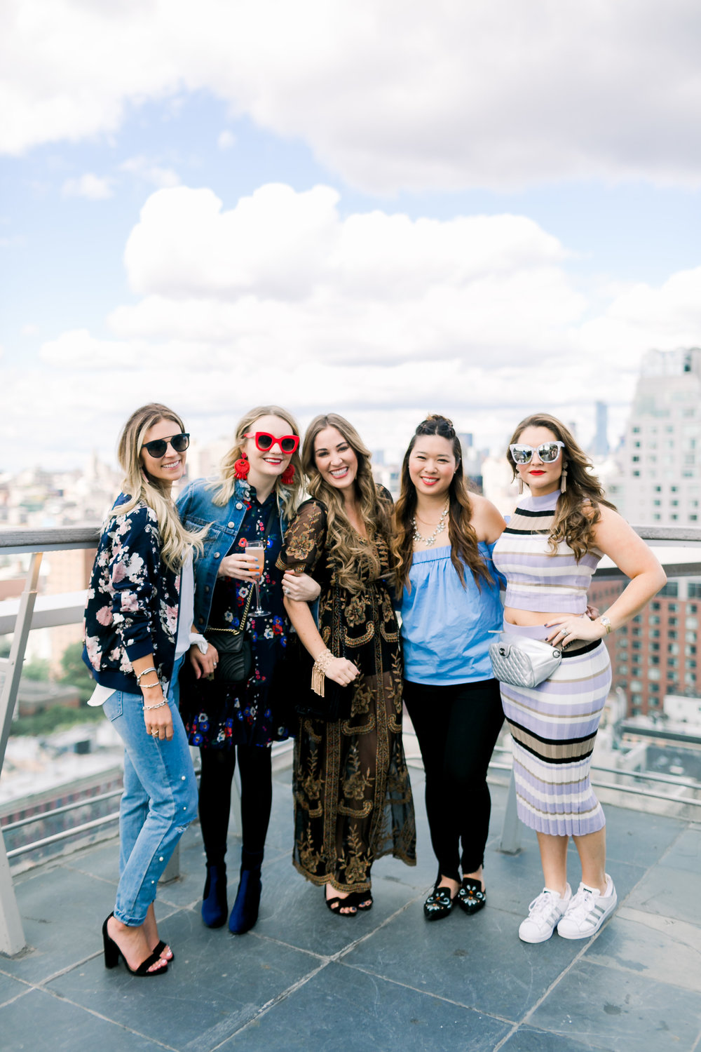 NYFW Rooftop party Ashlee K Nikols, Megan Bonner, Laura Boswell WalkinginMemphisinHighheels, Collins Tuohy Smith by Mary Kate Steele Photography