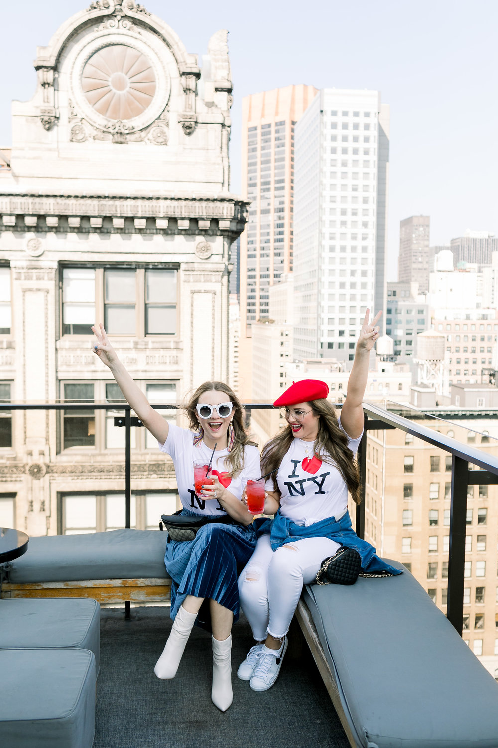 Megan Bonner and Collins Tuohy Smith rooftop NYC New York Fashion Week by Mary Kate Steele Photography
