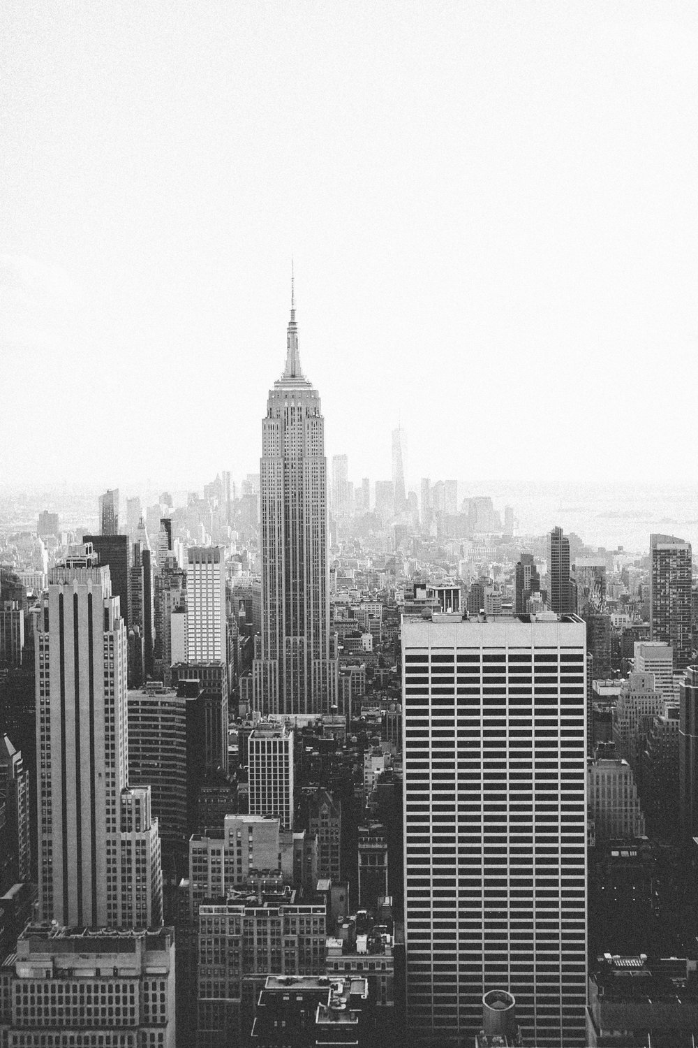 Top of the Rock Observation Deck Empire State Building New York City by Mary Kate Steele Photography