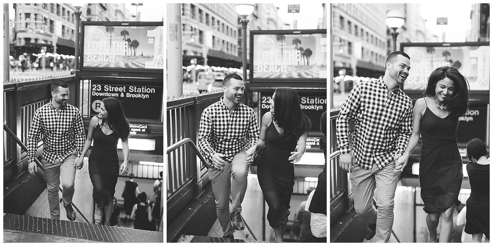 Christina and Justin New York City Engagement Session at Flat Iron building shot by Mary Kate Steele Photography