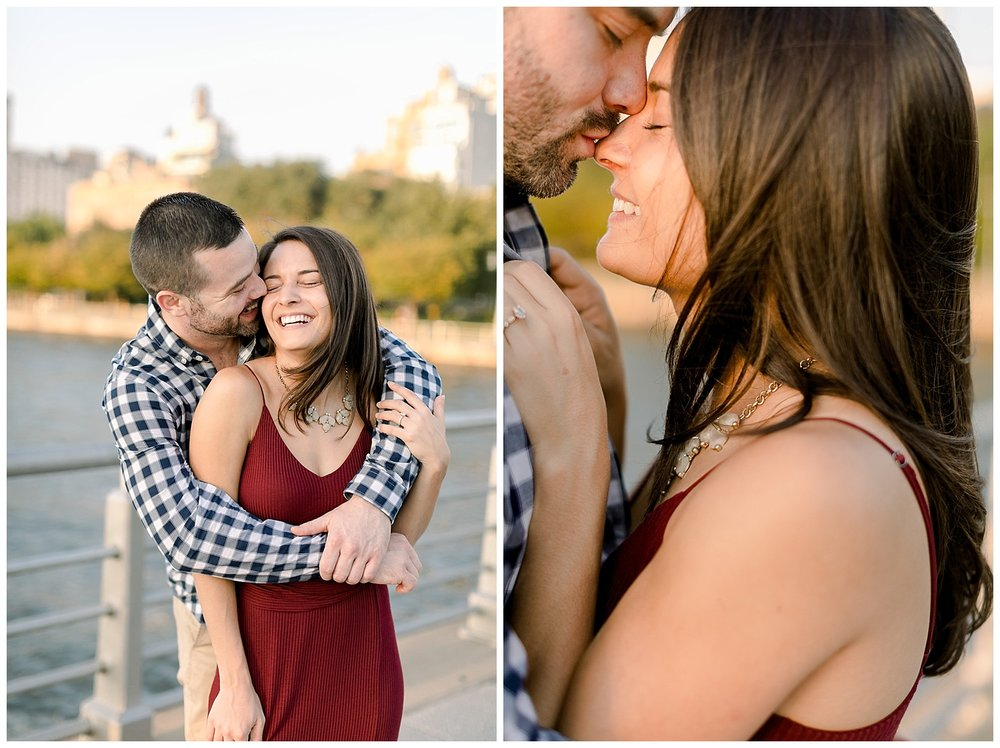 Christina and Justin New York City Engagement Session at Pier 46 shot by Mary Kate Steele Photography