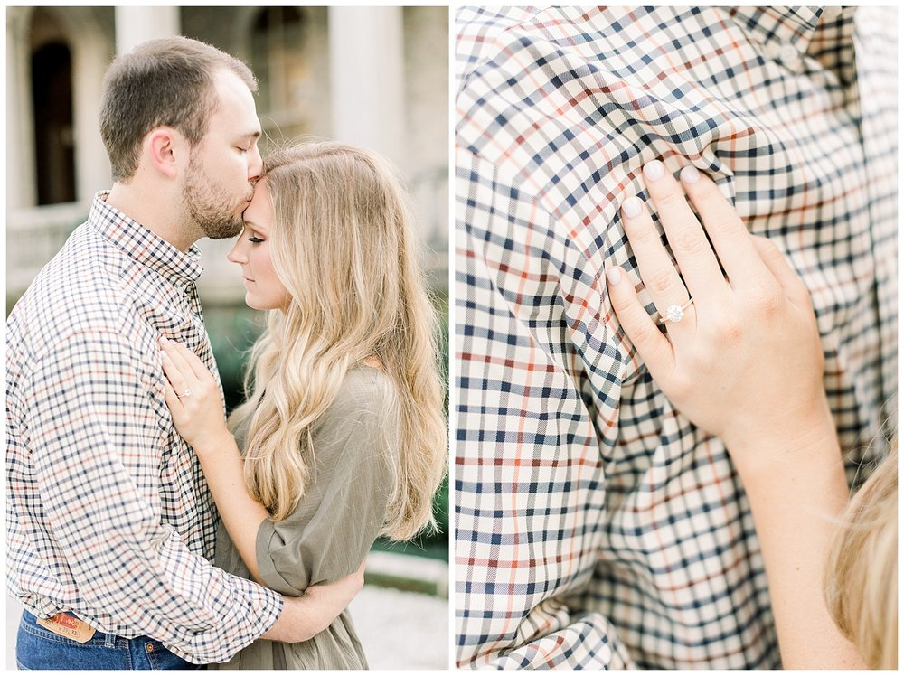 Kailan and Tyler Memphis Engagement session at Annesdale Mansion Memphis Luxury Wedding Photographer shot by Mary Kate Steele Photography