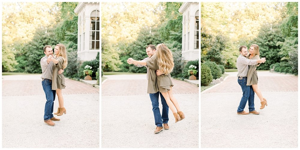Kailan and Tyler Annesdale Mansion Engagement Session shot by Mary Kate Steele Photography Luxury Wedding Photographer