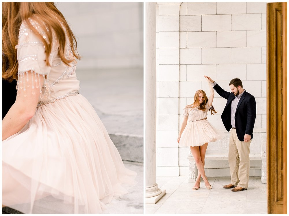 Megan and Kyle Engagement Session at the Brooks Museum shot by Mary Kate Steele Photography Professional Memphis Wedding Photographer