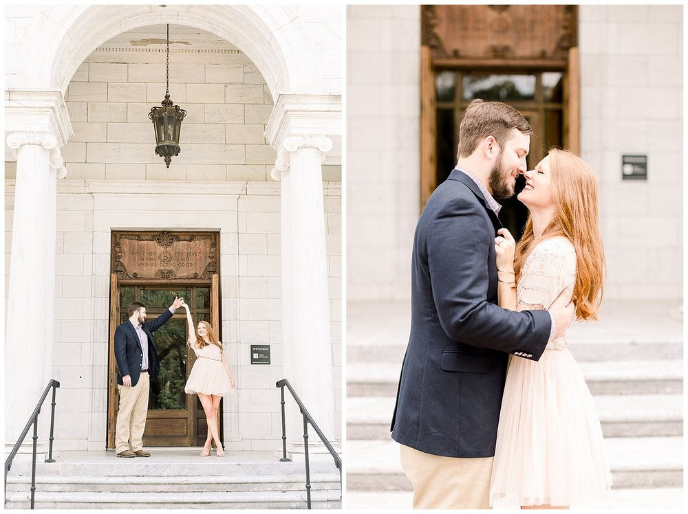 Megan and Kyle Engagement session at The Brooks Museum shot by Mary Kate Steele Luxury Memphis Wedding Photographer
