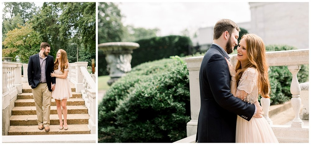 Megan and Kyle Brooks Museum Engagement Session shot by Mary Kate Steele Memphis Wedding Photographer