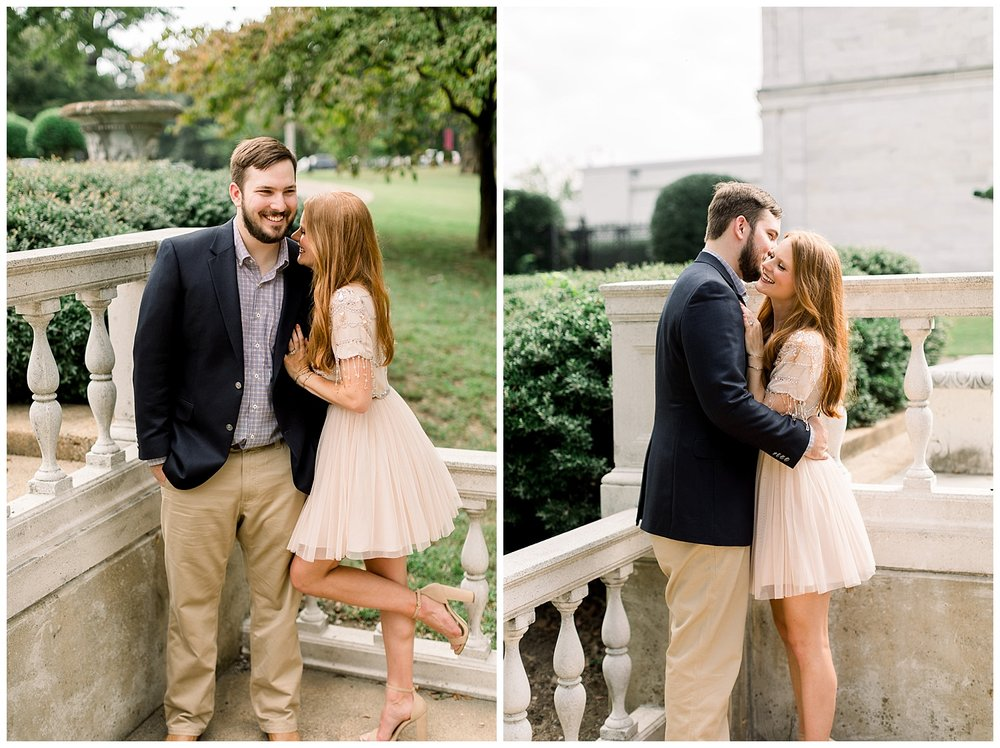 Megan and Kyle Brooks Museum Engagement Session shot by Mary Kate Steele Photography Oxford Mississippi Wedding Photographer