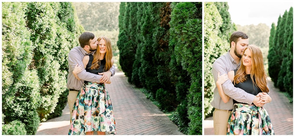 Megan and Kyle Memphis Botanic Garden Engagement Session shot by Mary Kate Steele Professional Memphis Wedding Photographer