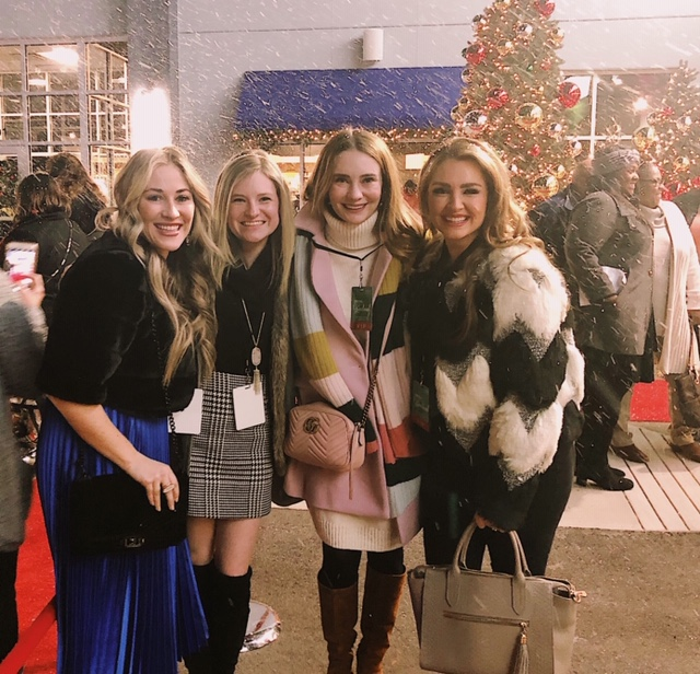 Christmas at Graceland Hallmark movie screening in Memphis with Collins, Megan and Laura!