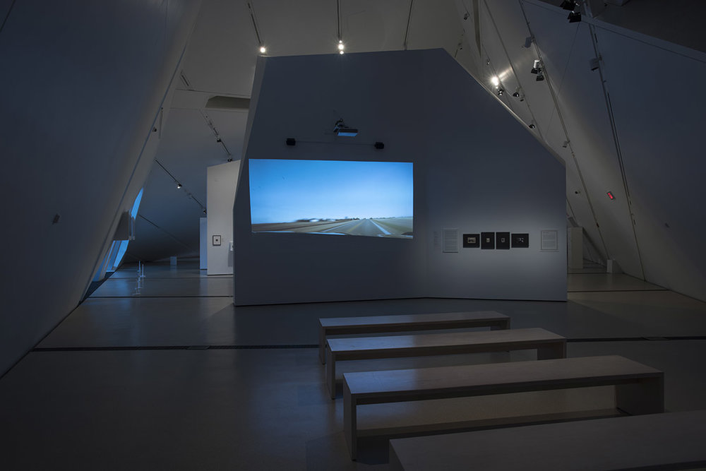 The Family Camera, installation view of We Are From Nicodemus (2017) by Deanna Bowen (Photo: Brian Boyle MPA, FPPO photo, 2017 © ROM)