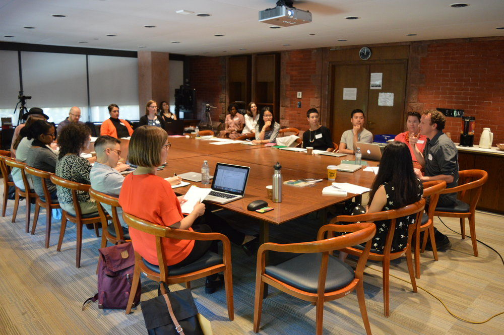 Oral History workshop in progress at the Munk School of Global Affairs (C. Barreto, 2016)