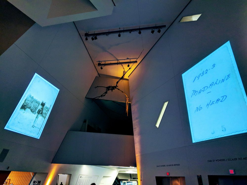 Nuit Blanche image projections at the ROM (J. Orpana, 2017)