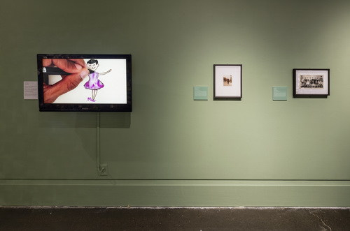 Installation view of The Family Camera: Missing Chapters, Art Gallery of Mississauga (T. Hafkenscheid, 2017)