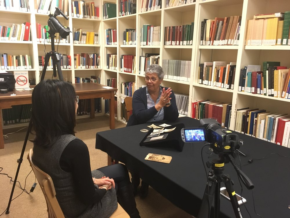 Nancy Lee in interview with Thy Phu at the ROM. (Photo: C. Barreto, 2017)