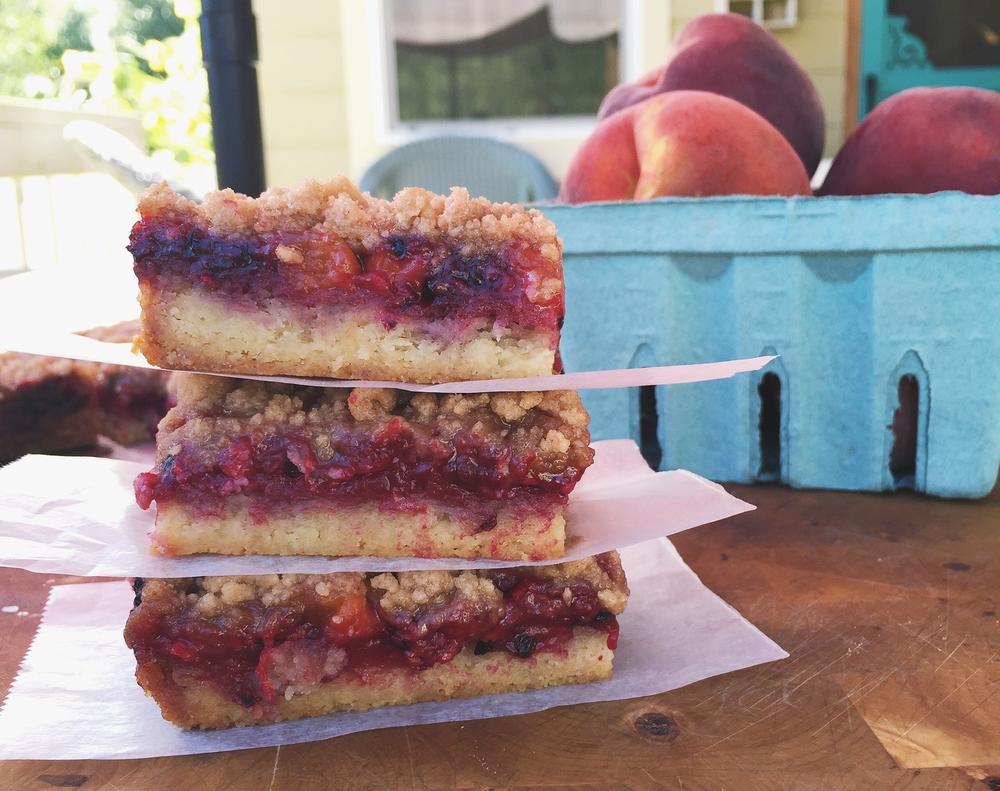 Summer Fruit Cobbler Bars | All Purpose Flour Child