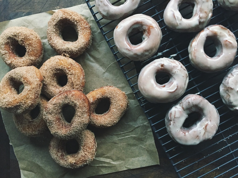 Raised Apple Cider Doughnuts | All Purpose Flour Child