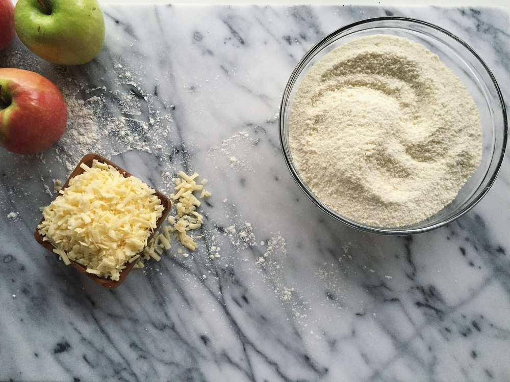 Mini Apple Galettes with Cheddar Crust | All Purpose Flour Child