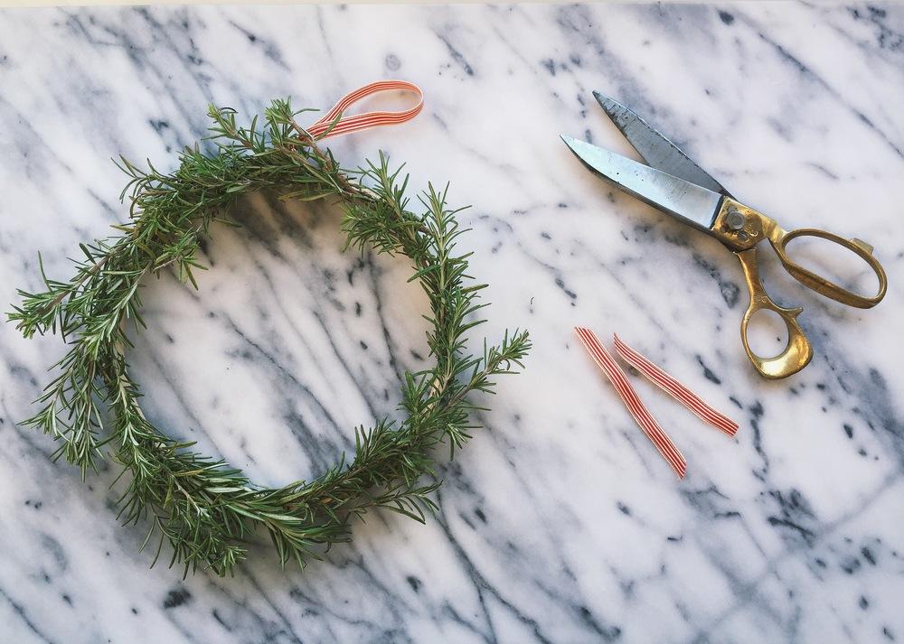 DIY Rosemary Wreath | All Purpose Flour Child