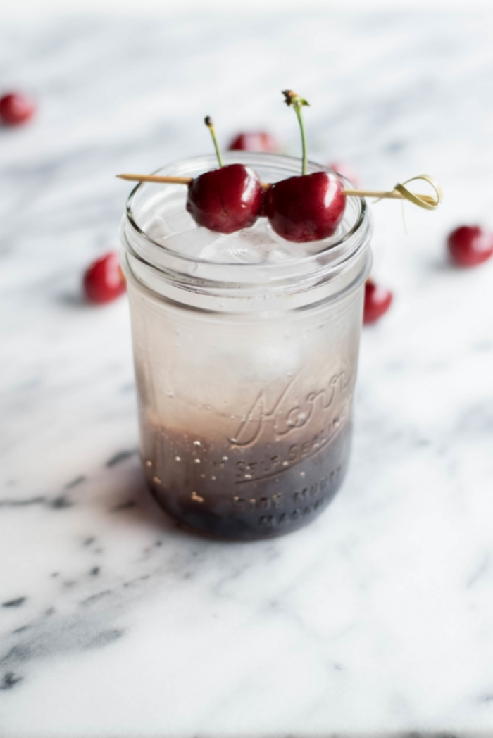 Cherry Balsamic Shrub | All Purpose Flour Child