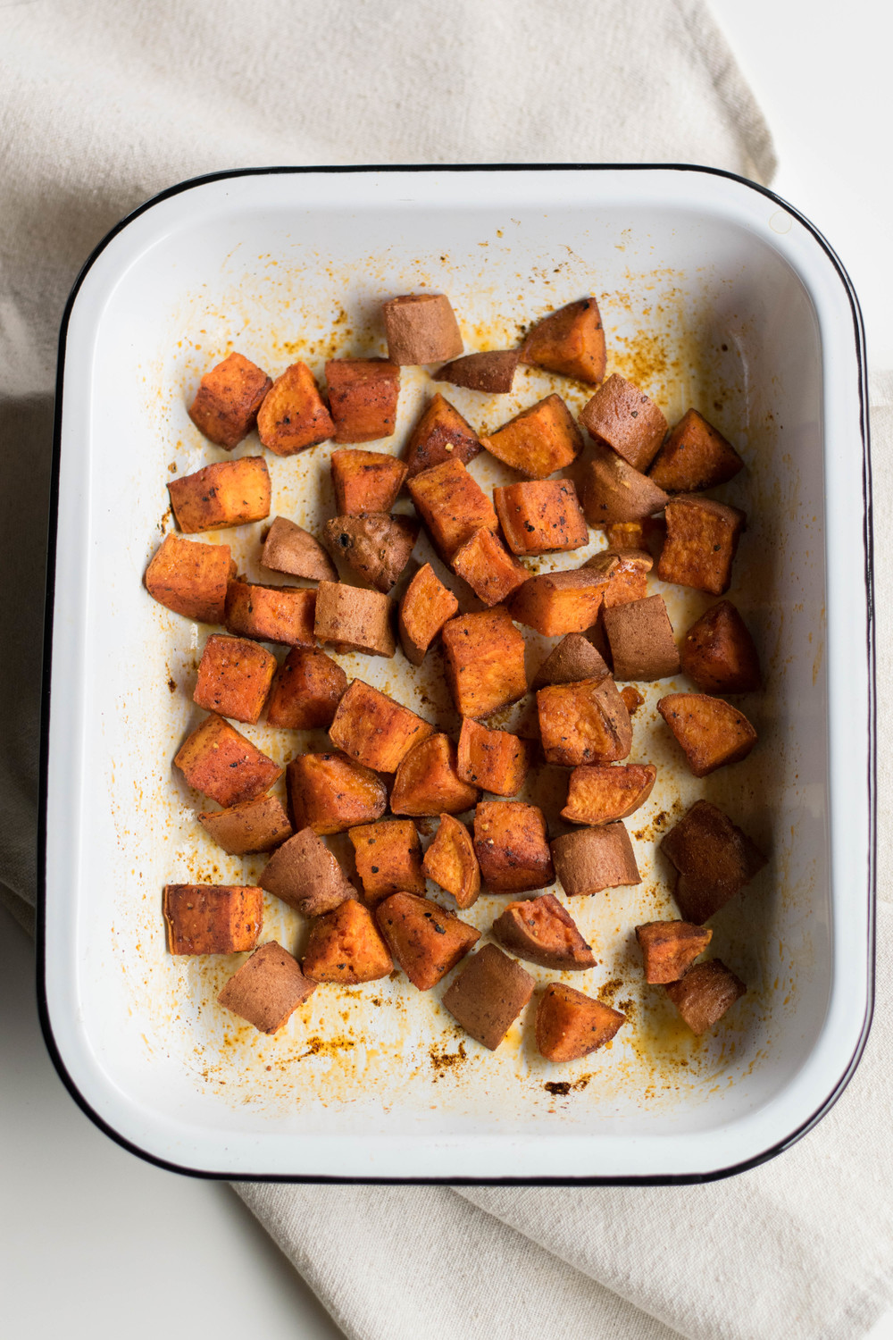 Simple Roast Sweet Potatoes | All Purpose Flour Child