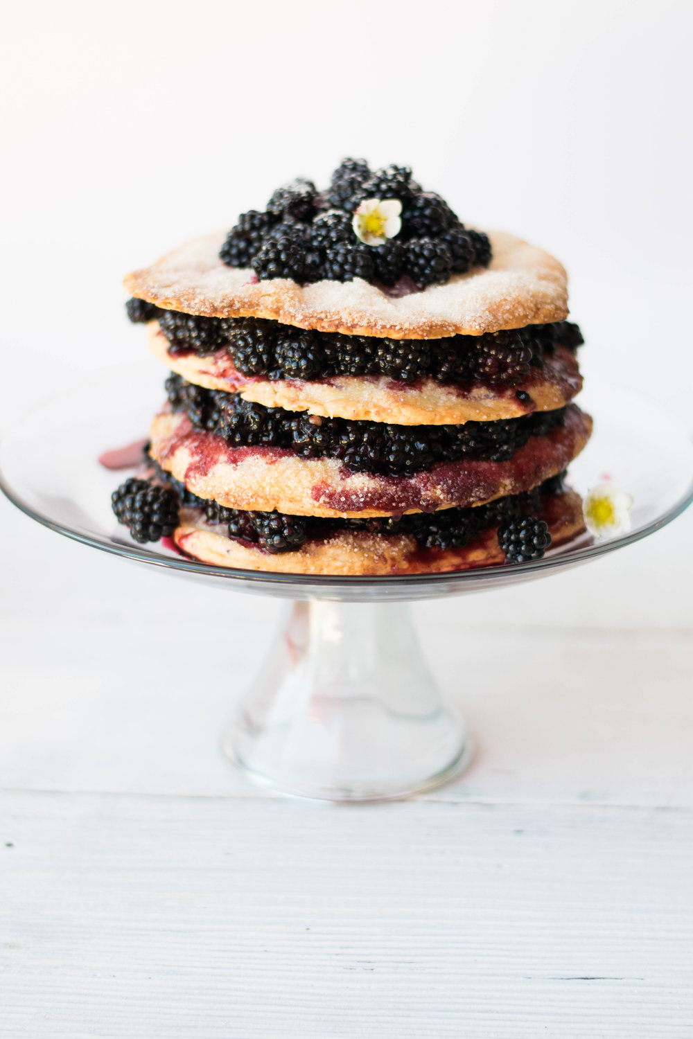 Blackberry Stack Pie with Lemon Crème Anglaise | All Purpose Flour Child