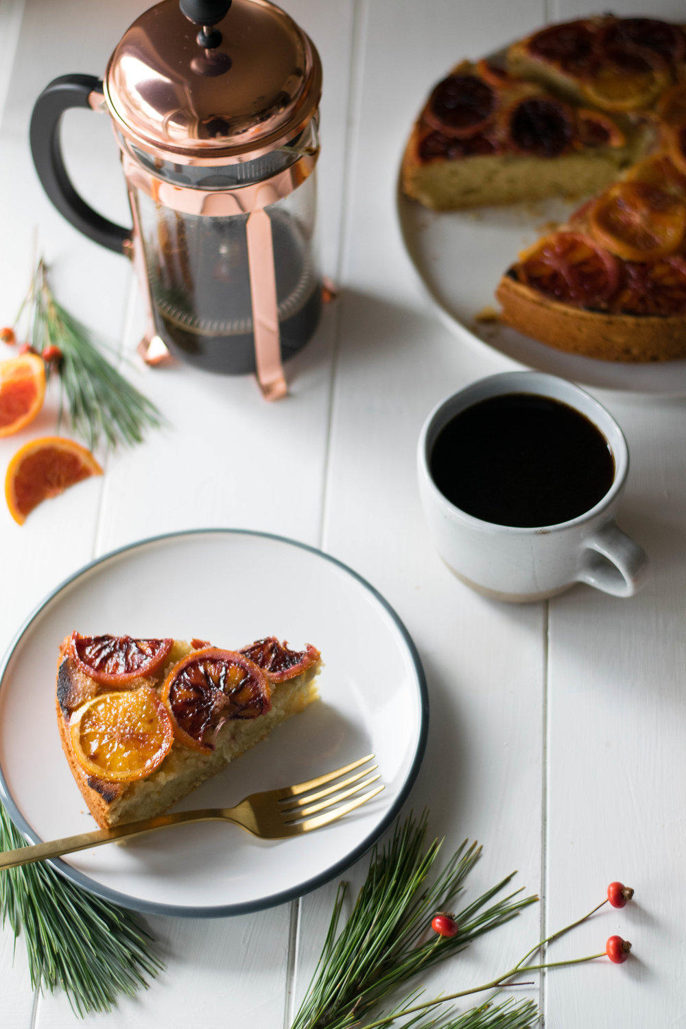 Brûléed Vanilla + Blood Orange Christmas Coffee Cake // Sponsored by Cook Flavoring Company | All Purpose Flour Child