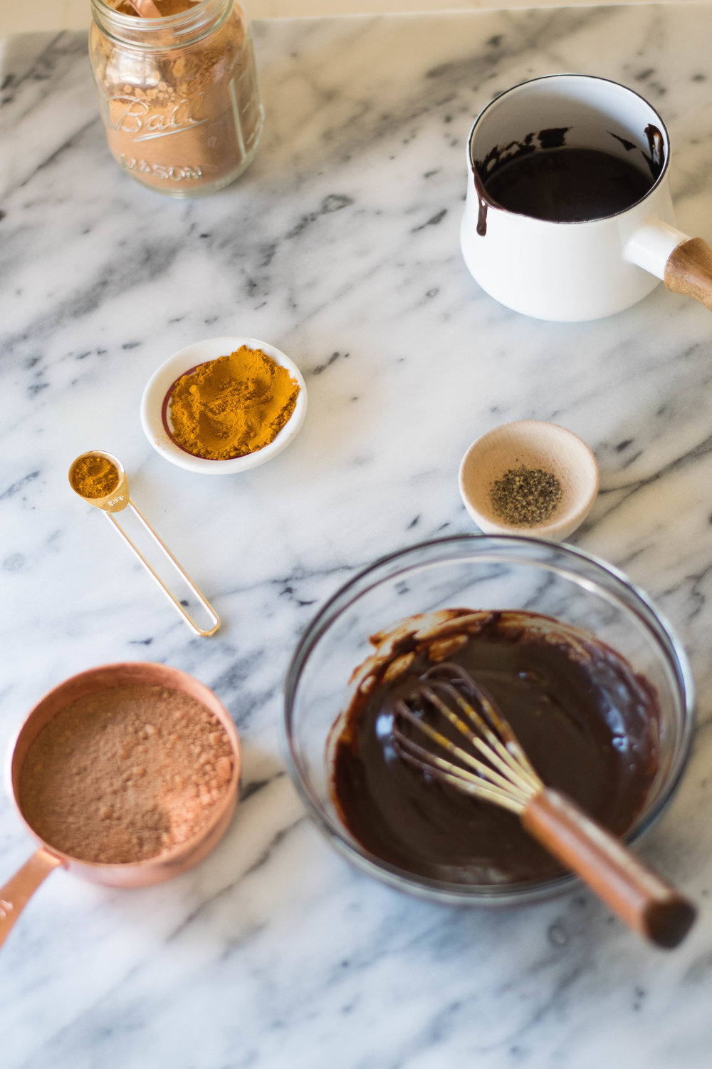 Golden Milk Chocolate Crunch Cups | All Purpose Flour Child