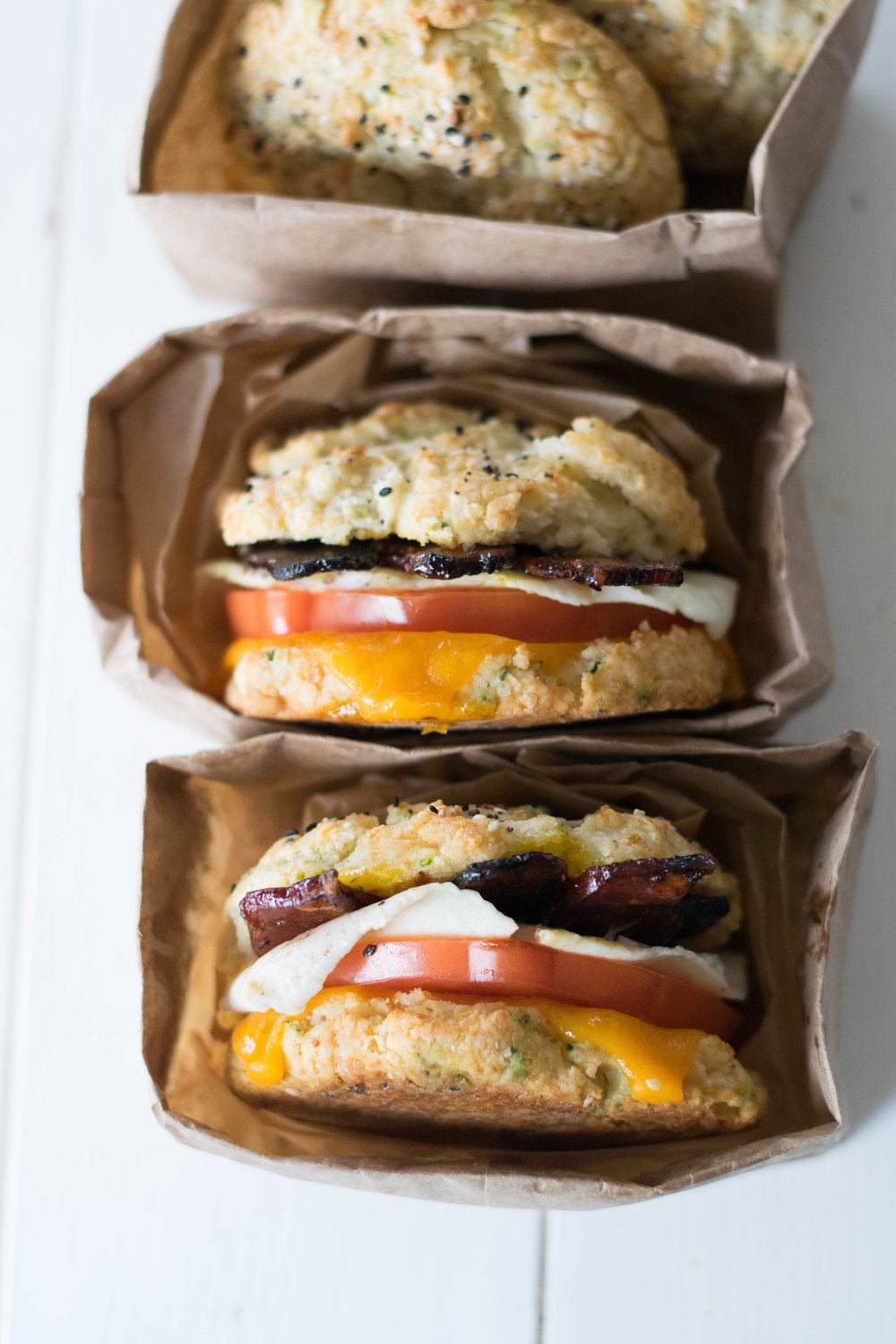 Brunchy Biscuit Sandwiches with Espresso Glazed Bacon | All Purpose Flour Child