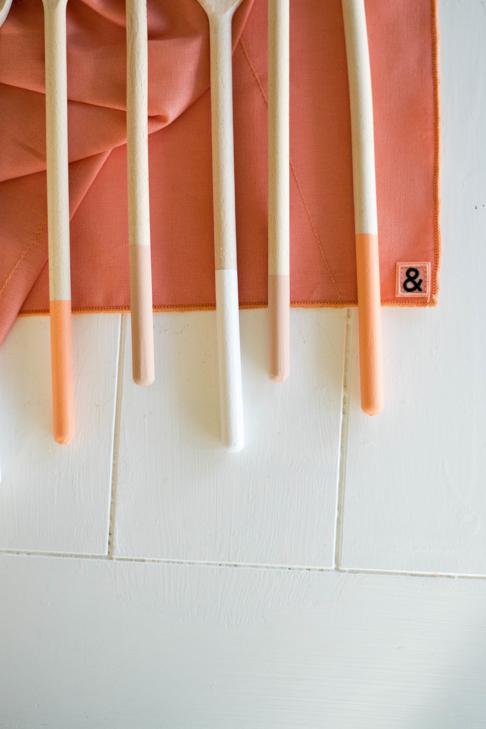 DIY Paint-Dipped Wooden Spoons | All Purpose Flour Child